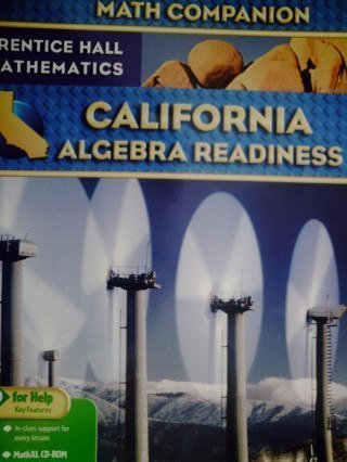 MATH COMPANION (Prentice Hall Mathematics, California Algebra: PEARSON/Prentice Hall (2009)