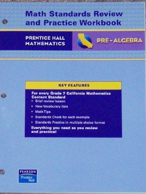 9780133501087: Math Standards Review and Practice Workbook (Pre-Algebra)