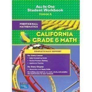 9780133501131: Prentice Hall Mathematics California Grade 6 Math - All in One: Version a
