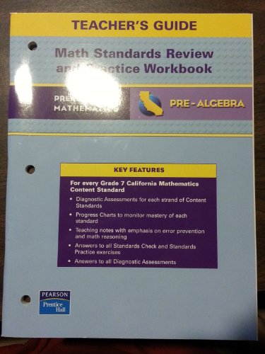 9780133501308: Prentice Hall Math Pre-Algebra Math Standards Review & Practice Workbook Teacher's Guide