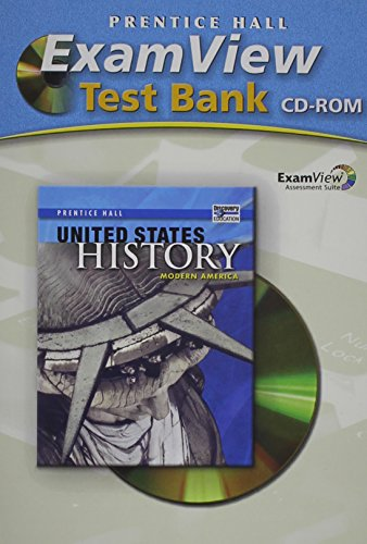 9780133503340: THE UNITED STATES HISTORY MODERN EXAMVIEW TEST BANK 2008C