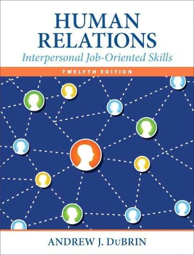 9780133506822: Human Relations: Interpersonal Job-Oriented Skills (12th Edition)