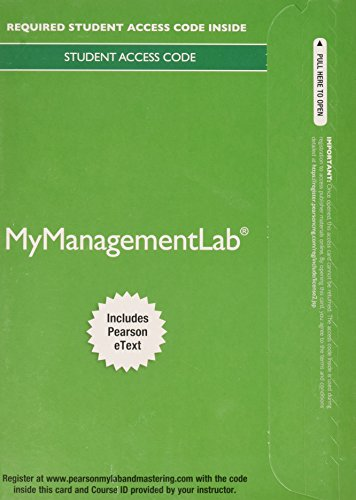 9780133506839: 2014 MyManagementLab with Pearson eText -- Access Card -- for Fundamentals of Management: Essential Concepts and Applications