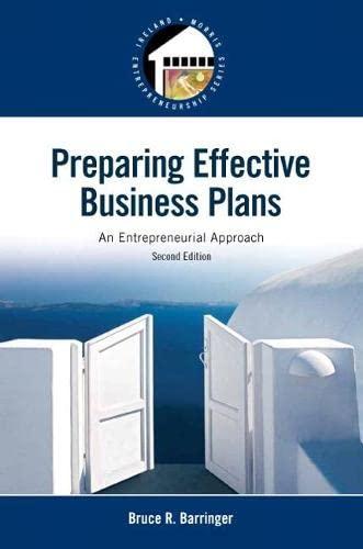 9780133506976: Preparing Effective Business Plans: An Entrepreneurial Approach (2nd Edition) (Pearson Entrepreneurship)