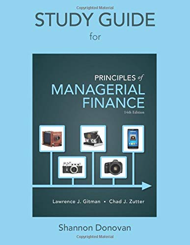 9780133508017: Study Guide for Prinicples of Managerial Finance