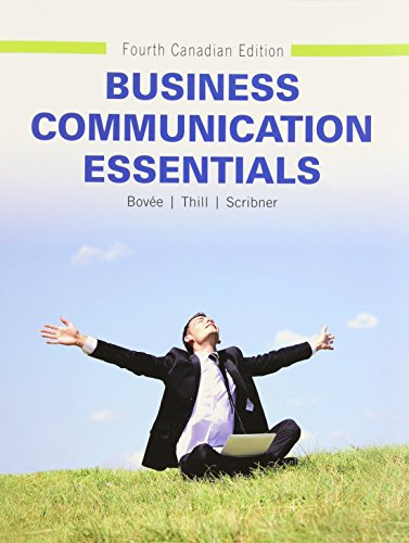 9780133508703: Business Communication Essentials, Fourth Canadian Edition (4th Edition)