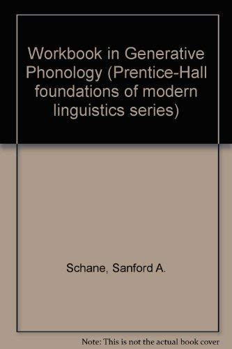 9780133509427: Workbook in Generative Phonology