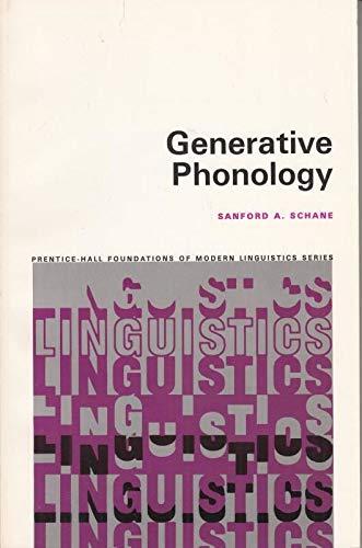 9780133509595: Generative Phonology (Foundations of Modern Linguistics)