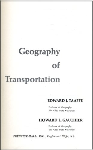 9780133513950: Geography of transportation
