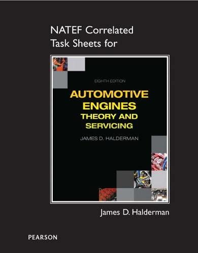 9780133516234: NATEF Correlated Task Sheets for Automotive Engines: Theory and Servicing