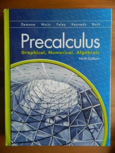 9780133518450: Precalculus: Graphical, Numerical Algebraic