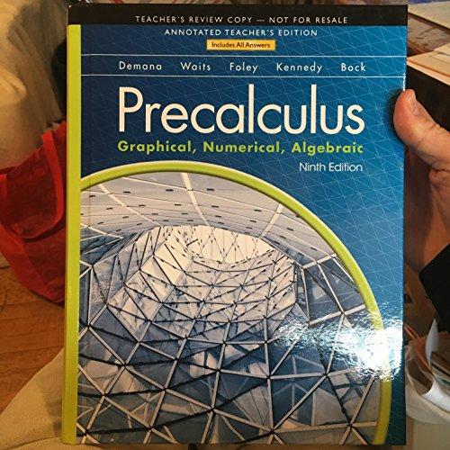 9780133518795: Precalculus: Graphical, Numerical, Algebraic