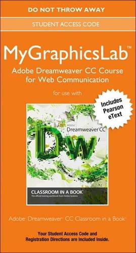 9780133520491: MyGraphicsLab Adobe Dreamweaver CC Course Access Card