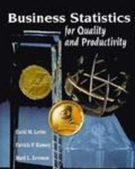 9780133523119: Business Statistics for Quality and Productivity