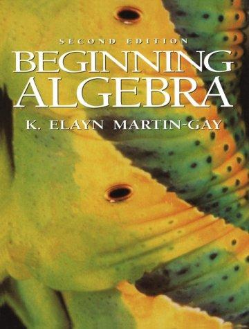 9780133536652: Beginning Algebra (2nd Edition)