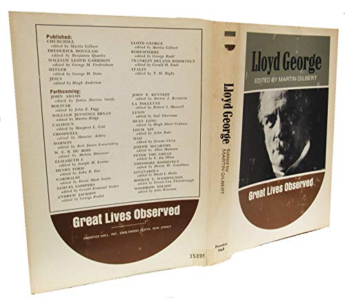 9780133539530: Lloyd George (Great Lives Observed)