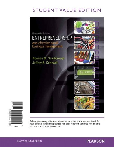 Entrepreneurship and Effective Small Business Management, Student: Norman M. Scarborough