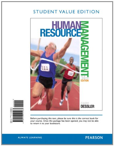 Human Resource Management, Student Value Edition (14th: Dessler, Gary
