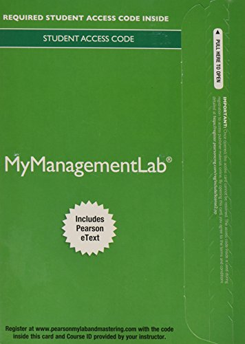 9780133545692: 2014 MyManagementLab with Pearson eText -- Access Card -- for Human Resource Management