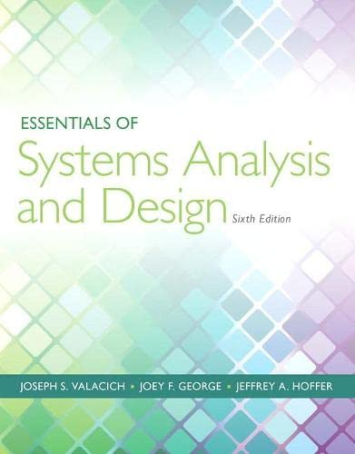 9780133546231: Essentials of Systems Analysis and Design (6th Edition)