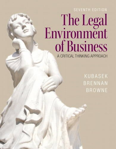 9780133546422: The Legal Environment of Business (7th Edition)