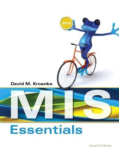 9780133546590: MIS Essentials (4th Edition)