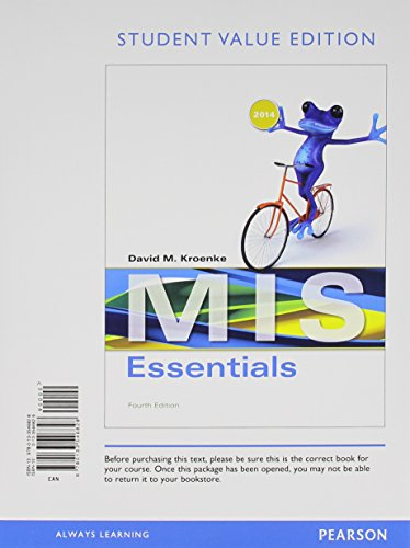 9780133546828: MIS Essentials, Student Value Edition (4th Edition)