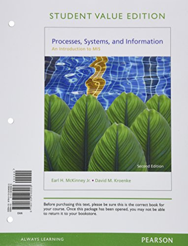 9780133546903: Processes, Systems, and Information: An Introduction to MIS, Student Value Edition (2nd Edition)