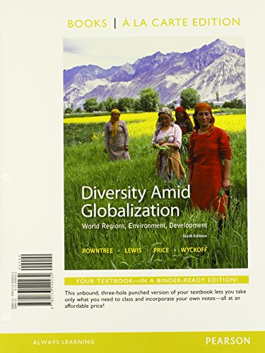 9780133549232: Diversity Amid Globalization: World Regions, Environment, Development, Books a la Carte Edition (6th Edition)