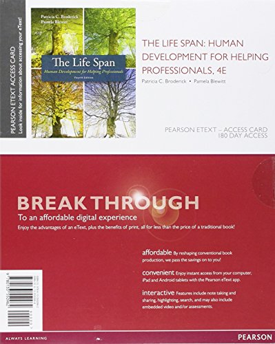 9780133550962: The Life Span: Human Development for Helping Professionals, Enhanced Pearson eText -- Access Card