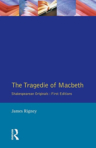 9780133554397: The Tragedie of Macbeth: The Folio of 1623 (Shakespearean Originals - First Editions)