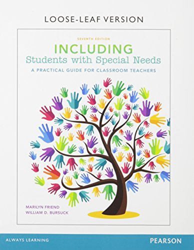 Including Students with Special Needs: Friend, Marilyn, Bursuck,