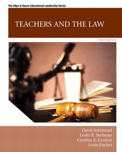9780133564464: Teachers and the Law (9th Edition) (Allyn & Bacon Educational Leadership)