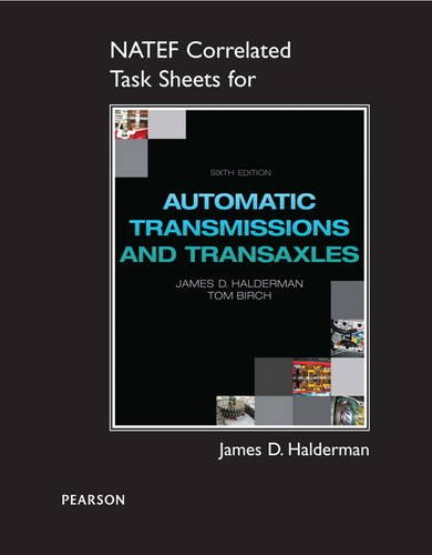 Natef Correlated Task Sheets For Automatic Transmissions And Transaxles 6 ed