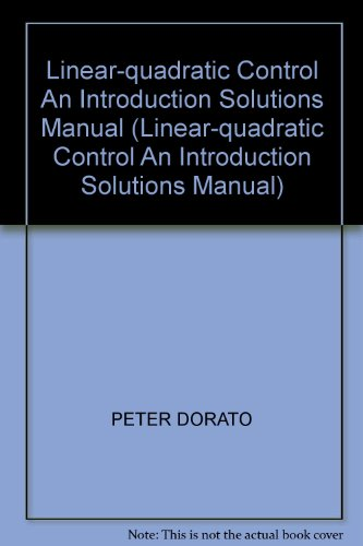 9780133565850: Linear-quadratic Control