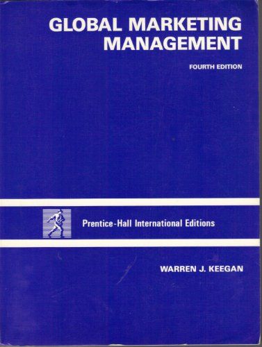 9780133572452: Global Marketing Management