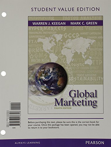 9780133576306: Global Marketing, Student Value Edition (8th Edition)