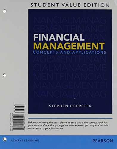 9780133578041: Financial Management: Concepts and Applications, Student Value Edition Plus NEW MyFinanceLab with Pearson eText -- Access Card Package