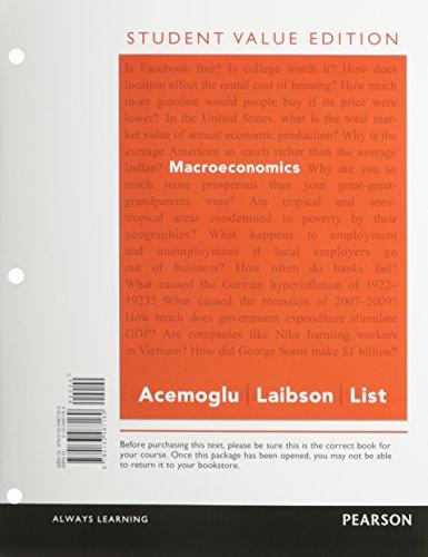 Macroeconomics, -- (Pearson Series in Economics) [Nov