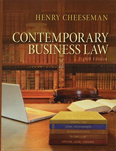 9780133578164: Contemporary Business Law (8th Edition)