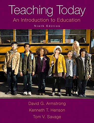 9780133584318: Teaching Today: An Introduction to Education