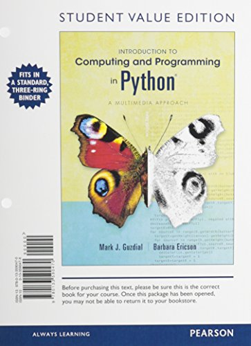 9780133590470: Introduction to Computing and Programming in Python, Student Value Edition (3rd Edition)