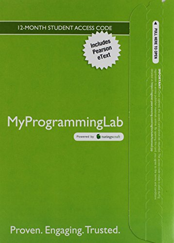 9780133590746: MyProgrammingLab with eText -- Access Code Card -- for Introduction to Computing and Programming in Python