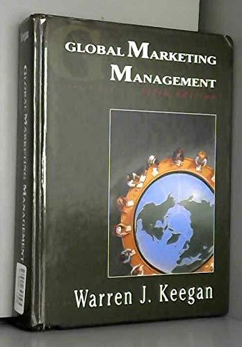 9780133591347: Global Marketing Management