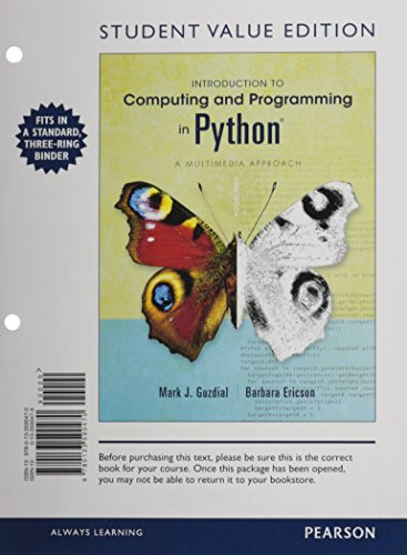 9780133591538: Introduction to Computing and Programming in Python, Student Value Edition plus MyProgrammingLab with eText -- Access Card Package (3rd Edition)