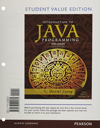 9780133592535: Student Value Edition for Intro to Java Programming, Brief Version (10th Edition)