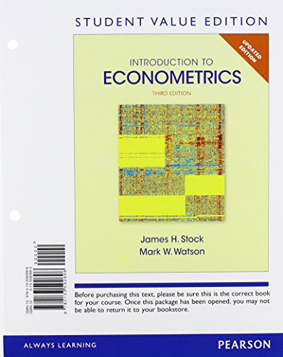 9780133592696: Introduction to Econometrics, Update, Student Value Edition (3rd Edition)