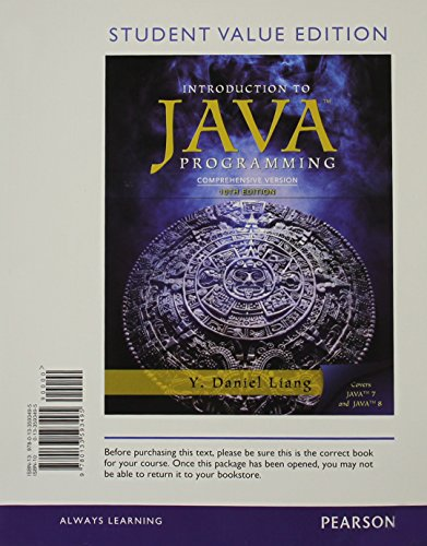 9780133593495: Intro to Java Programming, Comprehensive Version, Student Value Edition: (10th Edition)