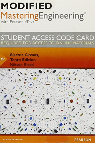 9780133595604: Modified MasteringEngineering with Pearson eText -- Access Card -- for Electric Circuits