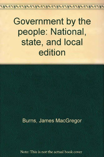 9780133610970: Government by the people: National, state, and local edition